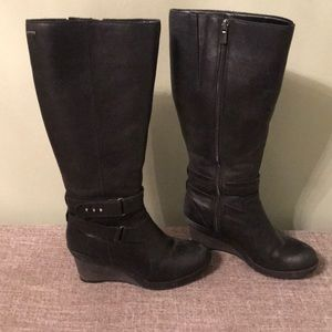 Clark's wedge knee high wedge boots